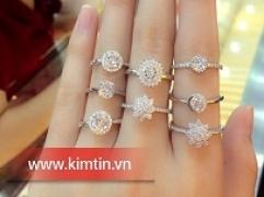 Nhẫn bạc xi đẹp long lanh