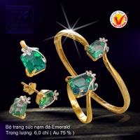 Bộ trang sức nạm đá Emerald