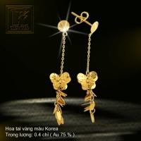 Hoa tai vàng 18K