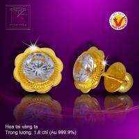 Hoa tai vàng 24k