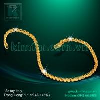 Lắc tay Italy vàng 18k