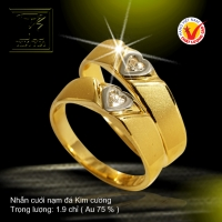 Nhẫn cưới vàng 18K