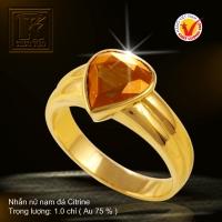 Nhẫn nữ nạm đá Citrine