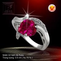 Nhẫn nữ nạm đá Ruby