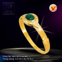 Vòng tay nạm đá Emerald