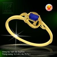 Vòng tay nạm đá Saphire