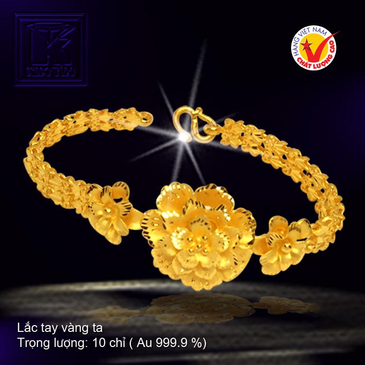 Lắc đúc hoa vàng 24 K