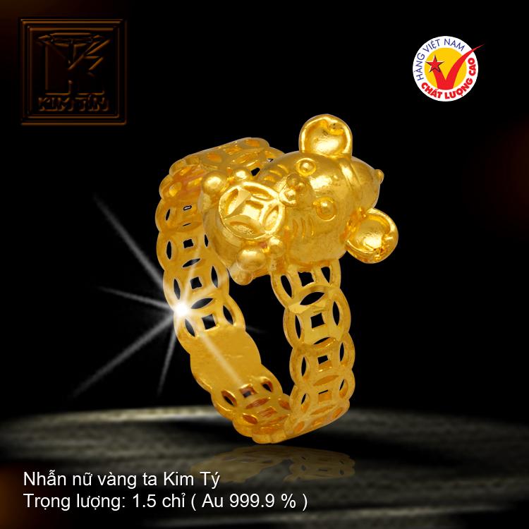 Nhẫn nữ vàng 24 K